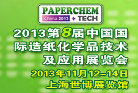 2013 8th International Exhibition On Paper Making Chemicals Technology And Application