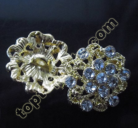 2013 Flower Rhinestone Button