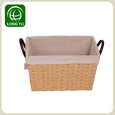 2013 New Release And Fashion Paper Rope Storage Basket With Flax Lining
