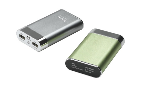 2013 Newest 8000mah Charger Portable Dual Usb Output Compact Size Lithium Li Ion Battery