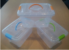 2014 Hot Sale Small Transparent Storage Box With Lid