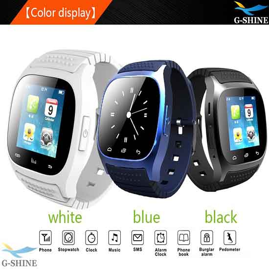 2014 New Bluetooth Wristwatch For Android Ios Waterproof Smartwatch M26