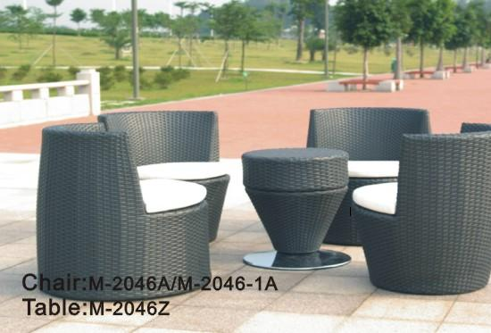 2014 New Garden Set Rattan Sofa Save Space Chair Table M 2046