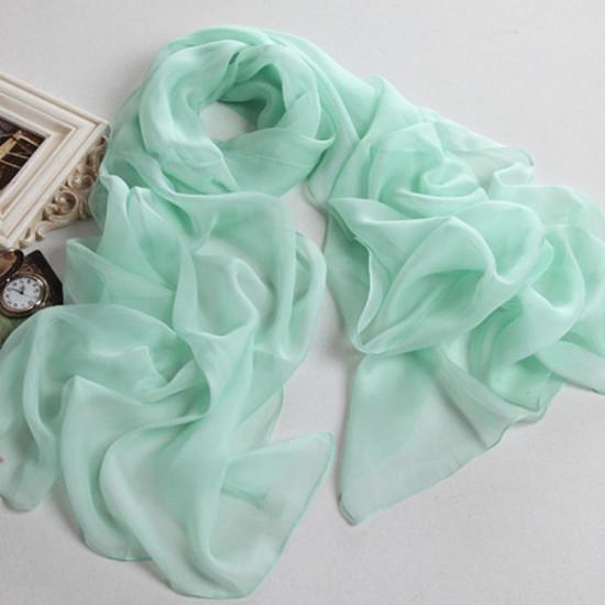 2014 New Style Pure Colour Silk Chiffon Scarf