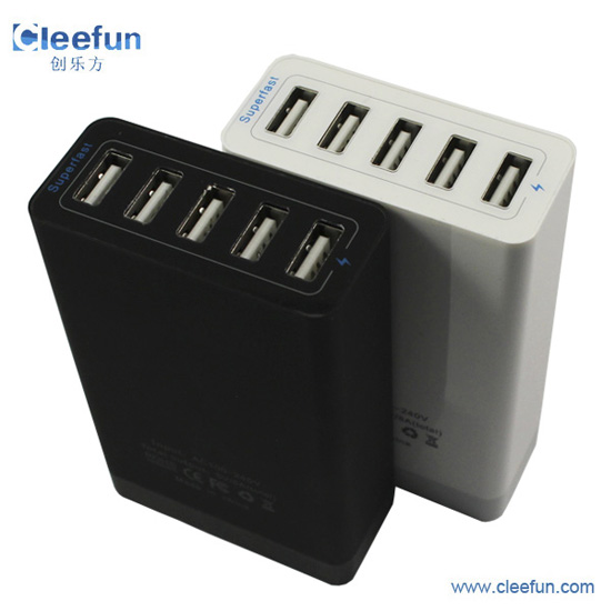 2015 New Arrive 5v40w Output 5 Port Family Sized Usb Desktop Charger