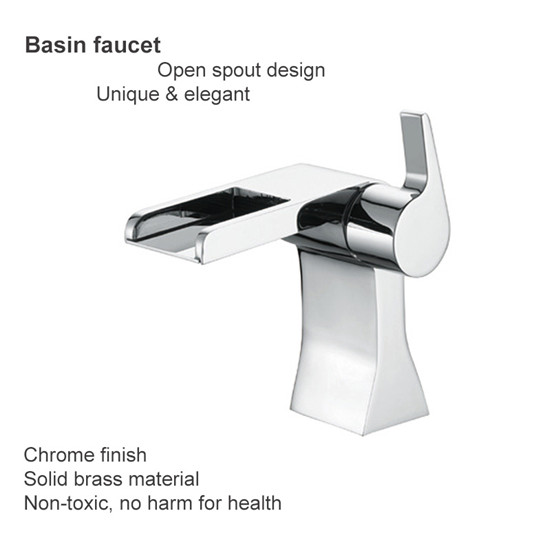 2015 Top Sale Good Price Nice Design Hot And Cold Water Tap For Basin Of Bathroom Modern Waterfall F