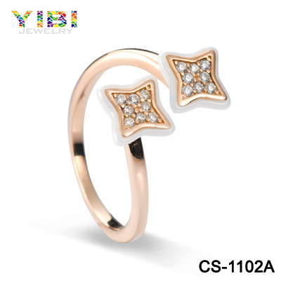 2016 Beautiful Star Gold Rings Designs Latest Finger Ring Ceramic Silver