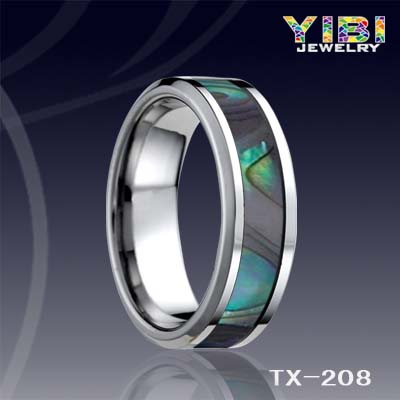 2016 Yibi Tungsten Ring With Shell Inlay