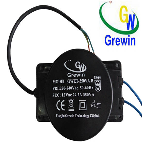 220v 12v 350va Waterproof Lighting Toroidal Transformer For Swimming Pool