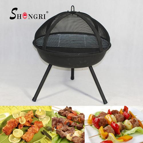23 Inch Backyard Fire Pit Grill
