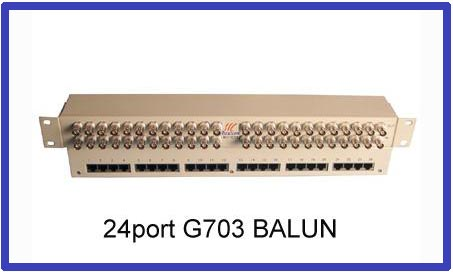 24e1 G703 Balun Panel 75ohm To 120ohm Impedance Converter