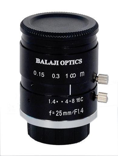 25 Mm Mega Pixel Machine Vision Lens Balaji Optics India