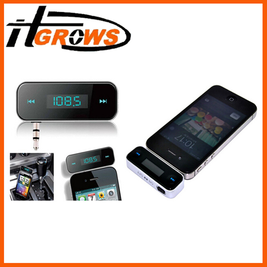 3 5mm In Car Handsfree Wireless Fm Transmitter For Iphone 5 4s 4 3g Ipod Samsung S4 S3