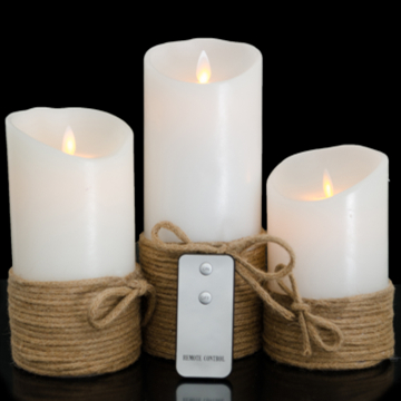 3 5x5 Inch Luminara Led Candle With Timer White