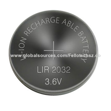 3 6 V Lir2032 Li Ion Rechargeable Button Cell Battery Coin For Toys Cameras Smoking Alarm Mp3 4