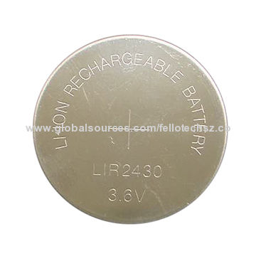 3 6v Button Cell Battery Lir2430 Rechargeable Pacemakers Electronic Hearing Aids Li Ion Coin