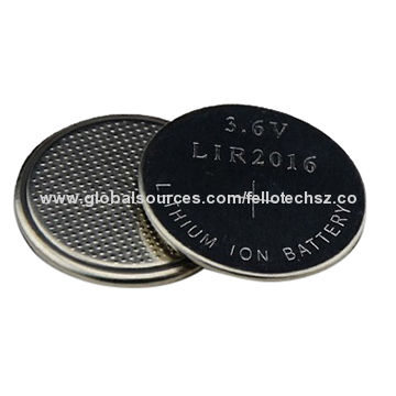 3 6v Li Ion Button Cell Battery Lir2016 Rechargeable Coin Long Life Time For Bluetooth Products