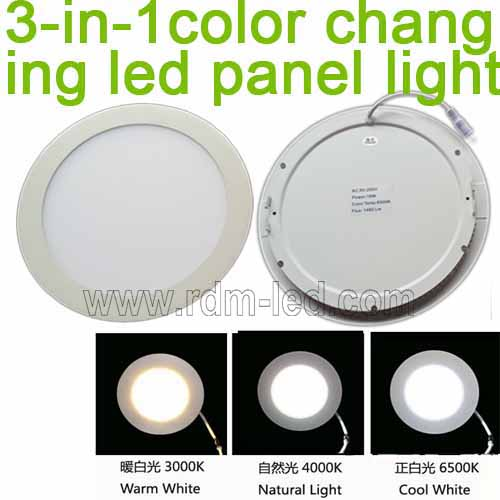 3 Color Round Led Panel Light