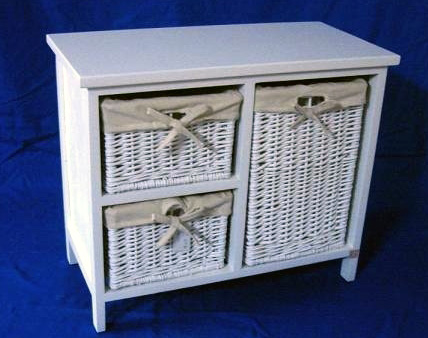 3 Drawers White Cabinet Furniture