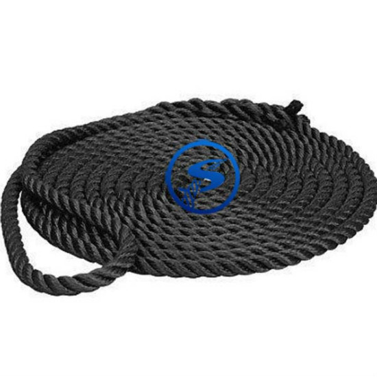 3 Strands Polyester Rope Dock Line Anchor Braided