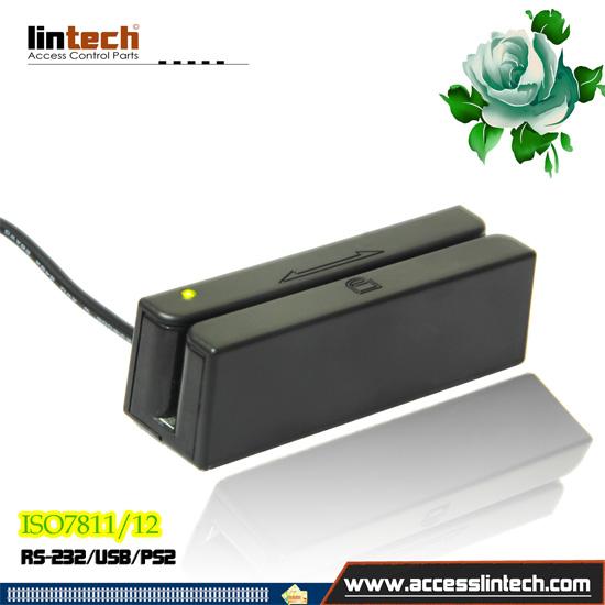 3 Tracks Usb Magnetic Card Reader For Desktop Pc