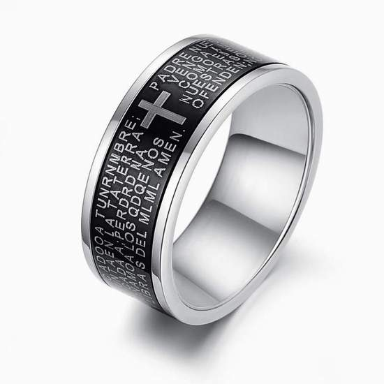 316l Stainless Steel Holy Bible Men S Rings