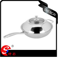 32cm 34cm Tri Ply Steel 3ply Cookware Frying Pan