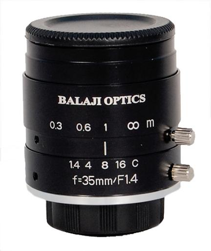 35 Mm Mega Pixel Machine Vision Lens Balaji Optics India
