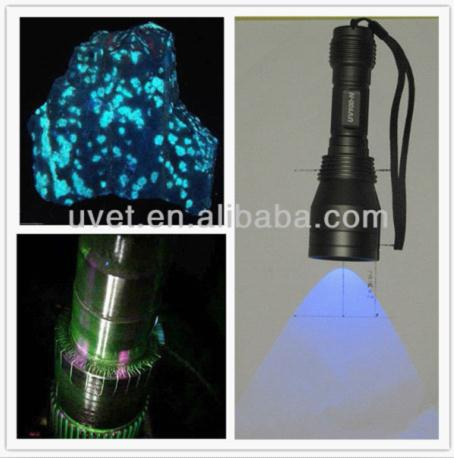 365nm 3w High Power Uv Led Flashlight For Automobile A C Fluid Leaking Freon Detection