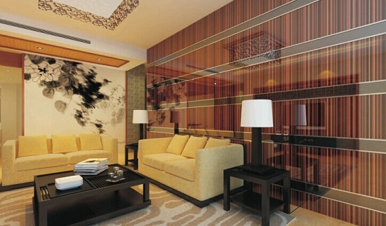 3d Decorative Glass For Tv Background Wall