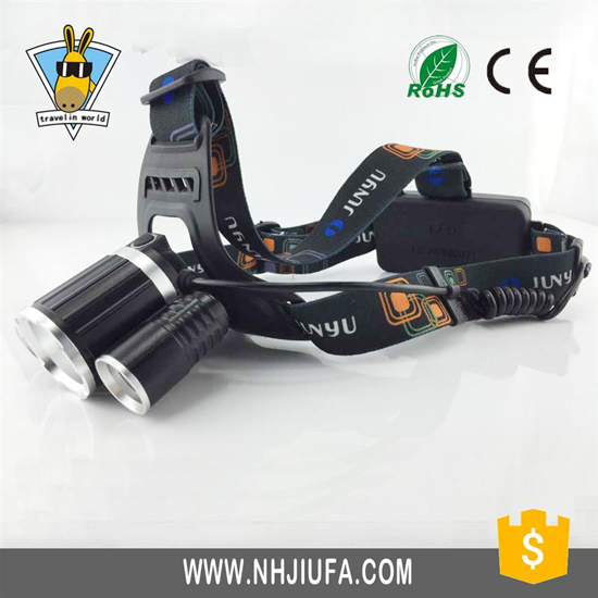 3led Outdoor Headlight 5mode Headlamp Waterproof High Power Led Flashlight