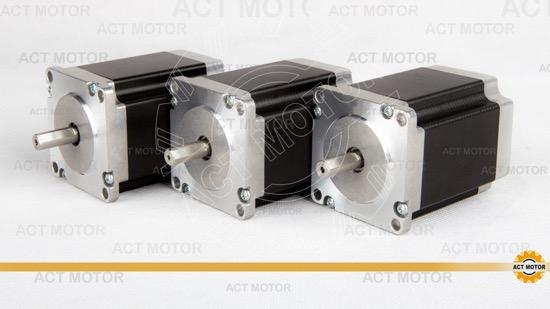 3pcs Act Nema23 Stepper Motor 23hs8430d8p1 5 Single Flat Shaft