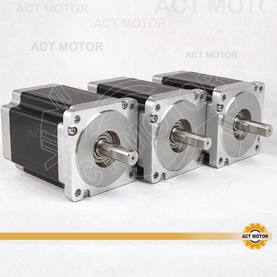 3pcs Act Nema34 Stepper Motor 34hs1456