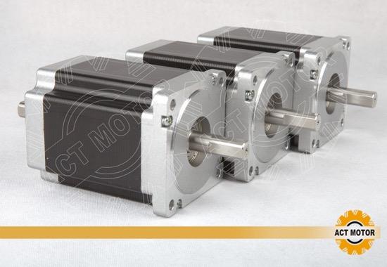 3pcs Act Nema34 Stepper Motor 34hs1456b Dual Shaft
