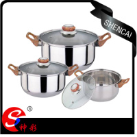 3pcs Stainless Steel Casserole Set Suitable For Gas Induction Cooker Dish Washer Halogen Ceramic