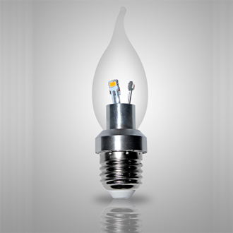 3w E27 Led Bent Tip Bulb