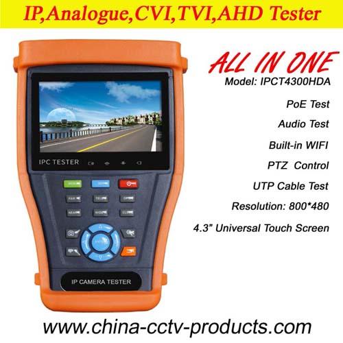4 3 Ip Ahd Tvi Cvi All In One Cctv Camera Tester Ipct4300hda