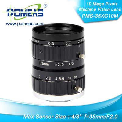 4 3inch 10mp Fl35mm Machine Vision Lens