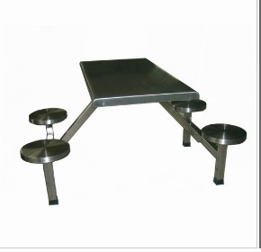 4 Person Prison Table Set Jail Stainless Steel