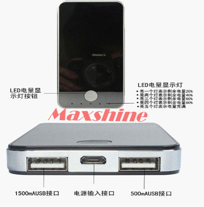 4000mah Power Bank With Iphone Shape Dual Usb Output Portable Charger Mobile Solar Laptop Battery Ba