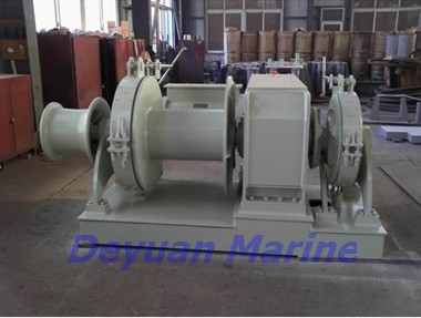 40kn Electric Anchor Windlass And Mooring Winch Authorized Fitting Deyuan