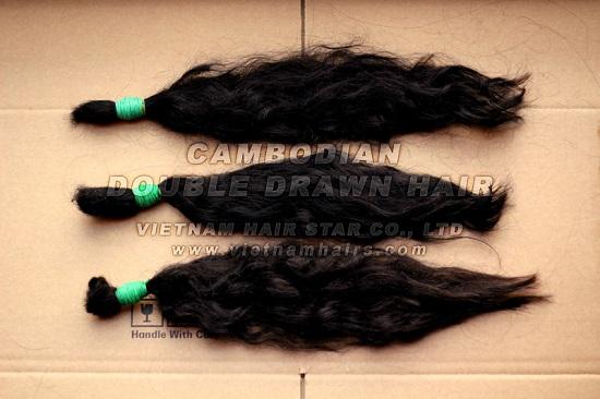 45cm Cambodia Human Remy Virgin Hair