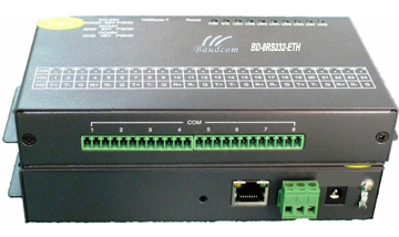 4channel Rs232 485 422 Serial To Ethernet Converter