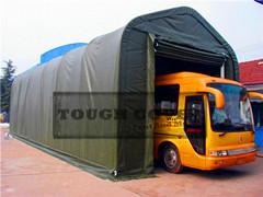 5 5m 18 Wide Bus Shelter Storage Tent Fabric Structure Tc1832 Tc1850 Tc1865