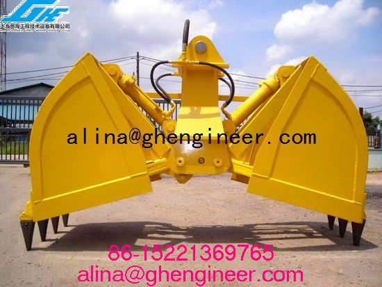 5 Tons Hydraulic Clamshell Bulk Grab For Cargo