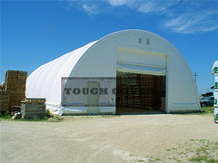 50 Feet Wide Dome Fabric Building Steel Frame Structure Warehouse Tent Storage