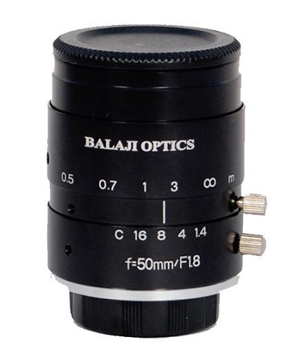 50 Mm Mega Pixel Machine Vision Lens Balaji Optics India