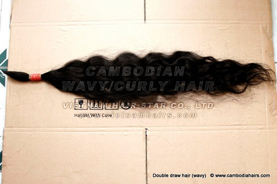 50cm Cambodia Remy Human Hair High Quality