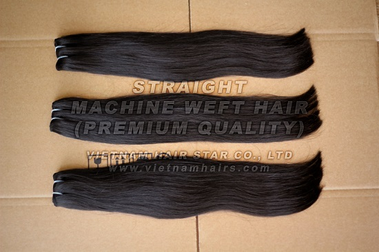 55cm Straight Machine Weft Hair Good Price