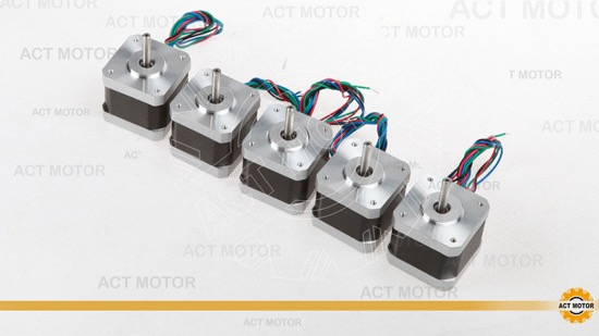 5pcs Act Nema17 Stepper Motor 17hs4417
